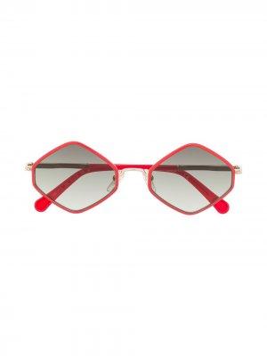 Солнцезащитные очки в шестиугольной оправе Chloé Kids. Цвет: красный