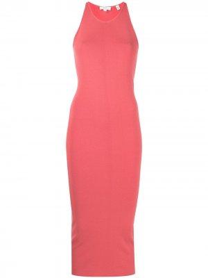 Трикотажное платье миди Marc A.L.C.. Цвет: оранжевый