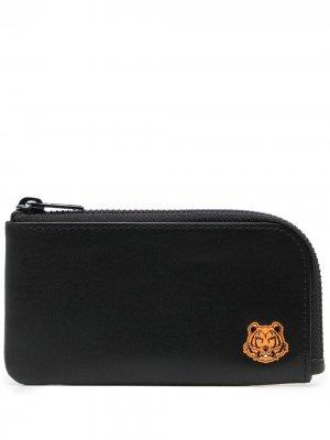 Картхолдер с логотипом Tiger Kenzo. Цвет: черный