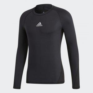 Лонгслив Alphaskin Sport Performance adidas. Цвет: черный