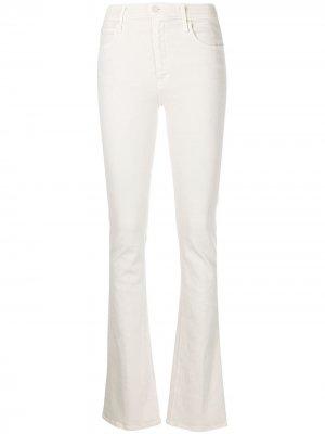 Расклешенные джинсы Runaway MOTHER. Цвет: белый