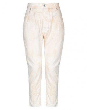 Джинсовые брюки NOVEMB3R. Цвет: бежевый