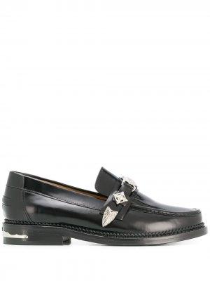 Лоферы на низком каблуке Toga Pulla. Цвет: черный
