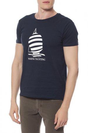 Футболка Marina Yachting. Цвет: мультицвет