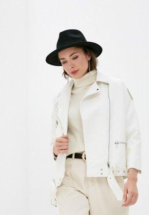 Куртка кожаная Aaquamarina. Цвет: белый