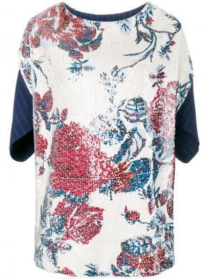 Топ с цветочной вышивкой Antonio Marras