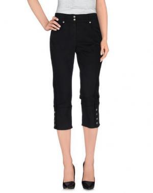 Джинсовые брюки-капри ANGELO MARANI. Цвет: черный