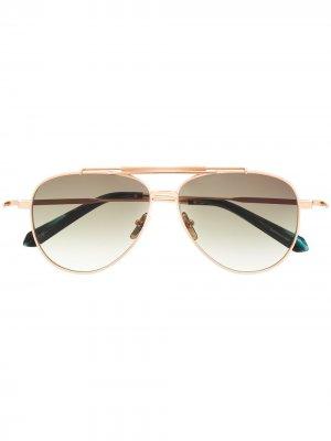 Солнцезащитные очки-авиаторы Classic Blend EQUE.M. Цвет: золотистый