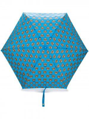 Зонт с принтом Moschino. Цвет: синий