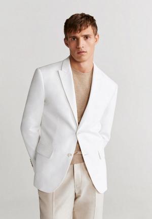 Пиджак Mango Man - WHITE. Цвет: белый