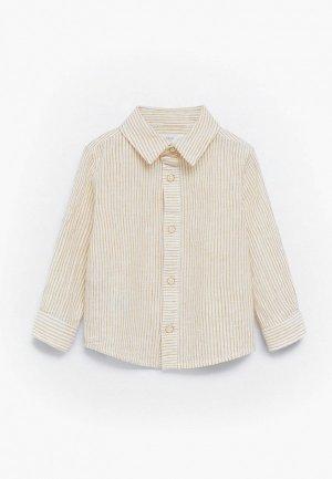 Рубашка Mango Kids - TRIP. Цвет: желтый