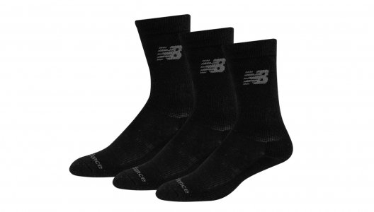 Носки PERFORMANCE COTTON CUSHIONED CREW SOCKS 3 PAIR New Balance. Цвет: черный