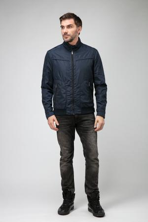 Легкая мужская куртка бомбер на молнии Madzerini. Цвет: темно-синий