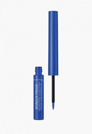 Подводка для глаз Rimmel Wonder Liner, 5 Pure Blue, 1,4 мл. Цвет: синий