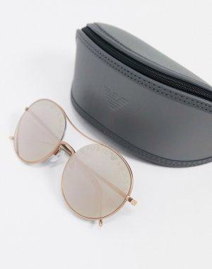 Золотистые солнцезащитные очки-авиаторы -Золотистый Emporio Armani