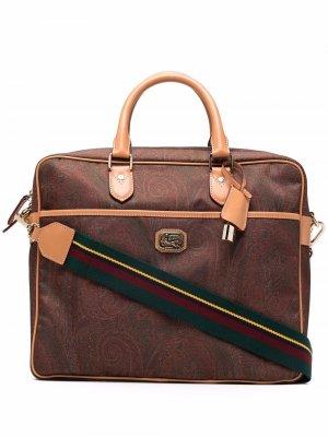 Сумка для ноутбука с принтом пейсли ETRO. Цвет: коричневый