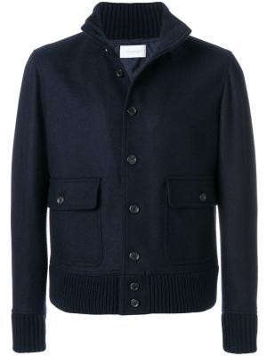 Пиджак в стиле милитари на пуговицах Cruciani. Цвет: синий