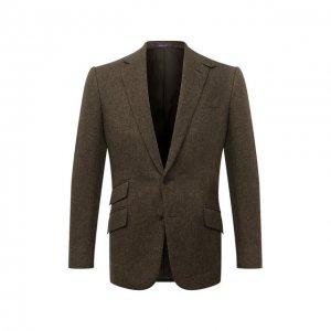 Шерстяной пиджак Ralph Lauren. Цвет: хаки