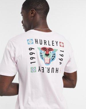 Розовая футболка -Розовый Hurley