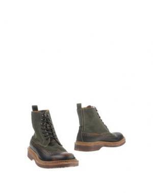 Полусапоги и высокие ботинки ESSEUTESSE. Цвет: зеленый-милитари