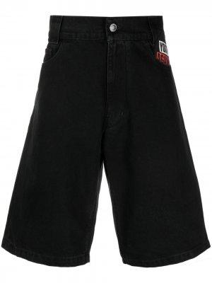 Джинсовые шорты-бермуды Raf Simons. Цвет: черный