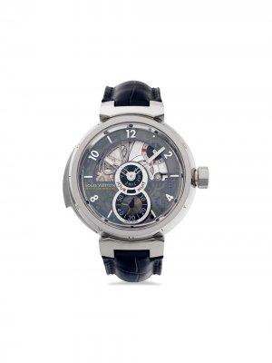 Наручные часы Tambour LV 40 pre-owned 44 мм 2015-го года Louis Vuitton. Цвет: черный