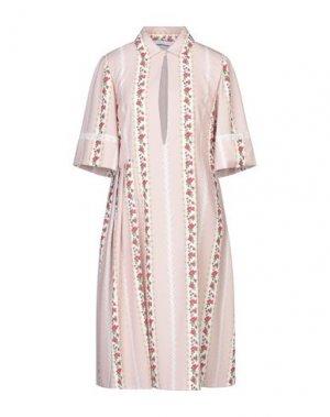 Платье до колена AU JOUR LE. Цвет: розовый