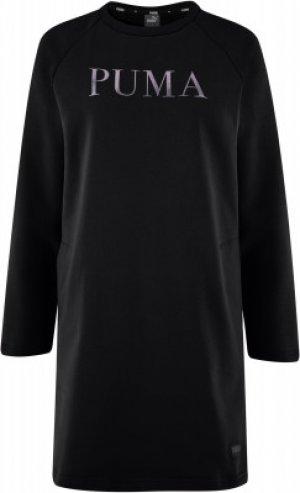 Платье женское Athletic, размер 46-48 Puma. Цвет: черный