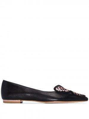 Туфли Bibi 10 с заостренным носком Sophia Webster. Цвет: черный