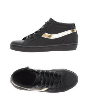 Высокие кеды и кроссовки LEATHER CROWN. Цвет: черный