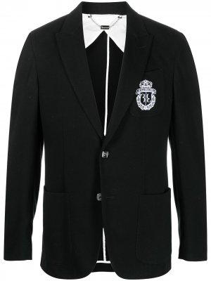 Пиджак строгого кроя с логотипом Billionaire. Цвет: черный