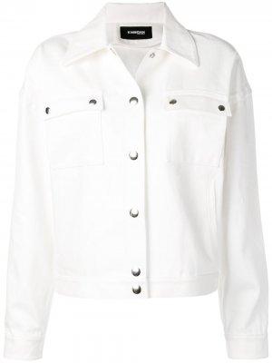 Джинсовая куртка Kwaidan Editions. Цвет: белый