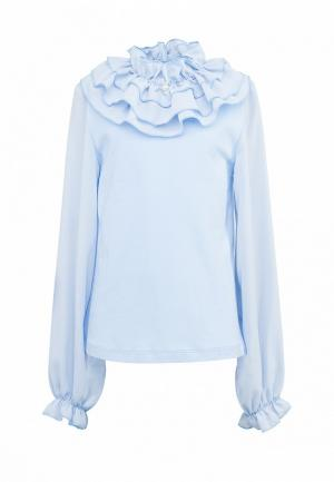 Блуза Красавушка Белла. Цвет: голубой