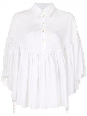 MarquesAlmeida блузка-кейп Marques'Almeida. Цвет: белый
