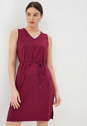 Платье Jack Wolfskin TIOGA ROAD DRESS. Цвет: бордовый