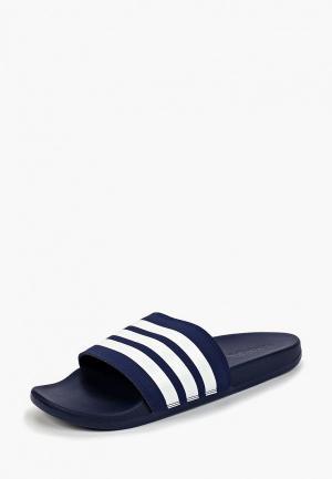 Сланцы adidas ADILETTE COMFORT. Цвет: синий