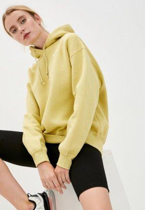 Худи Nike W NSW HOODIE FLC TREND. Цвет: желтый