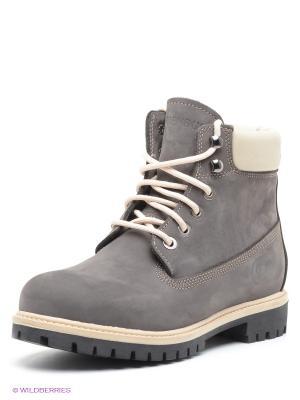 Ботинки FRIENDLY. Цвет: темно-серый