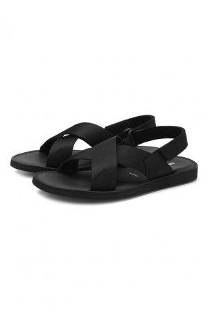 Комбинированные сандалии Bruno Bordese. Цвет: чёрный