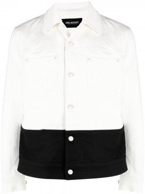 Двухцветная куртка с контрастной вставкой Neil Barrett. Цвет: белый