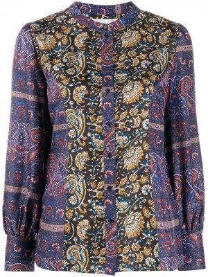 Блузка с цветочным узором Antik Batik. Цвет: синий