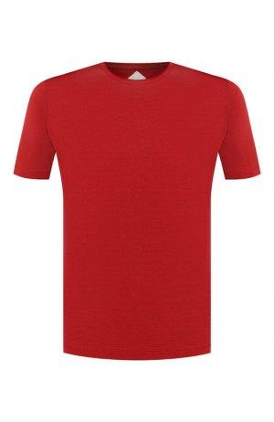 Хлопковая футболка Pal Zileri. Цвет: бордовый