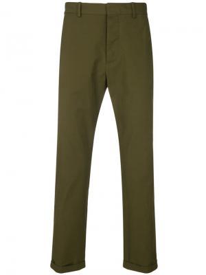 Классические брюки-чинос Marni. Цвет: зеленый