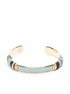 Позолоченный браслет-кафф Massai Gas Bijoux. Цвет: золотистый