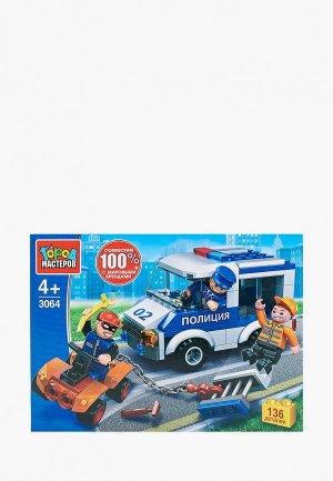 Конструктор Город Мастеров Побег из полицейской машины, 136 деталей. Цвет: разноцветный