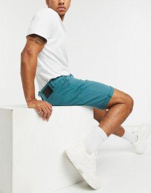 Бирюзовые джинсовые шорты Goodstock-Голубой Globe