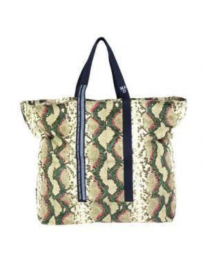Дорожная сумка DANIELE ALESSANDRINI HOMME. Цвет: зеленый-милитари