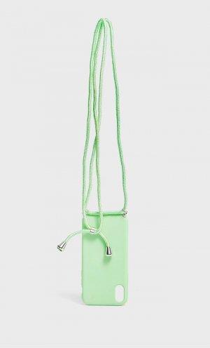 Чехол Для Iphone Xs Со Шнурком Женская Коллекция Multicolor 103 Stradivarius. Цвет: multicolor