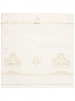 Одеяло с вышитым логотипом Lesy. Цвет: белый