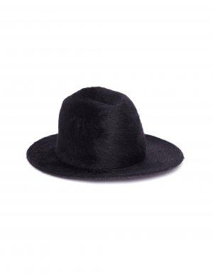 Черная шляпа с мехом Ann Demeulemeester